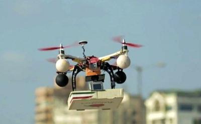 La livraison peut sauver la restauration ou la tuer drone-livreur-pizza