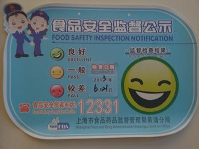 Food Safety Notification Shanghai Smiley Starbucks