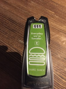 Shake Shack beeper off