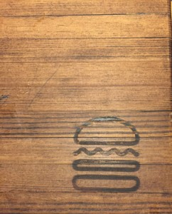 Shake Shack logo on table