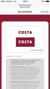 WiFi Costa Coffee