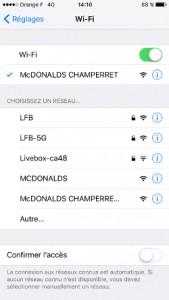 WiFi McDonalds